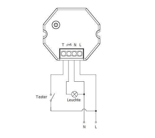 230v universal tast dimmer unterputz led dimmer taster. Black Bedroom Furniture Sets. Home Design Ideas